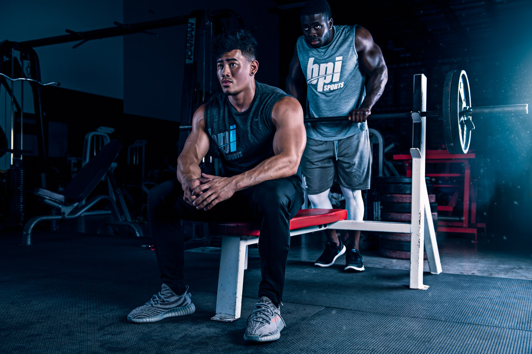 BPI Sports supplement brand ambassador athlete, Nevin Wood and Steven Cao