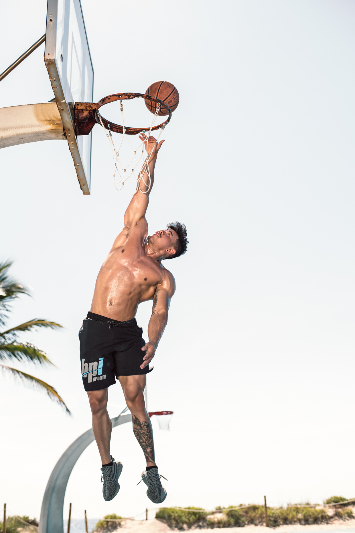 BPI Sports supplement brand ambassador athlete basketball photoshoot, Steven Cao