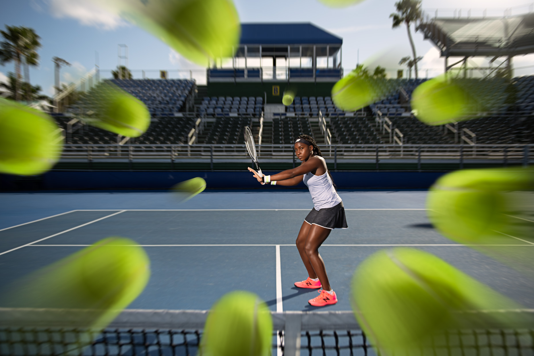 Coco Gauff - Tennis photoshoot - Delray Beach, FL - US Open - New Balance 2