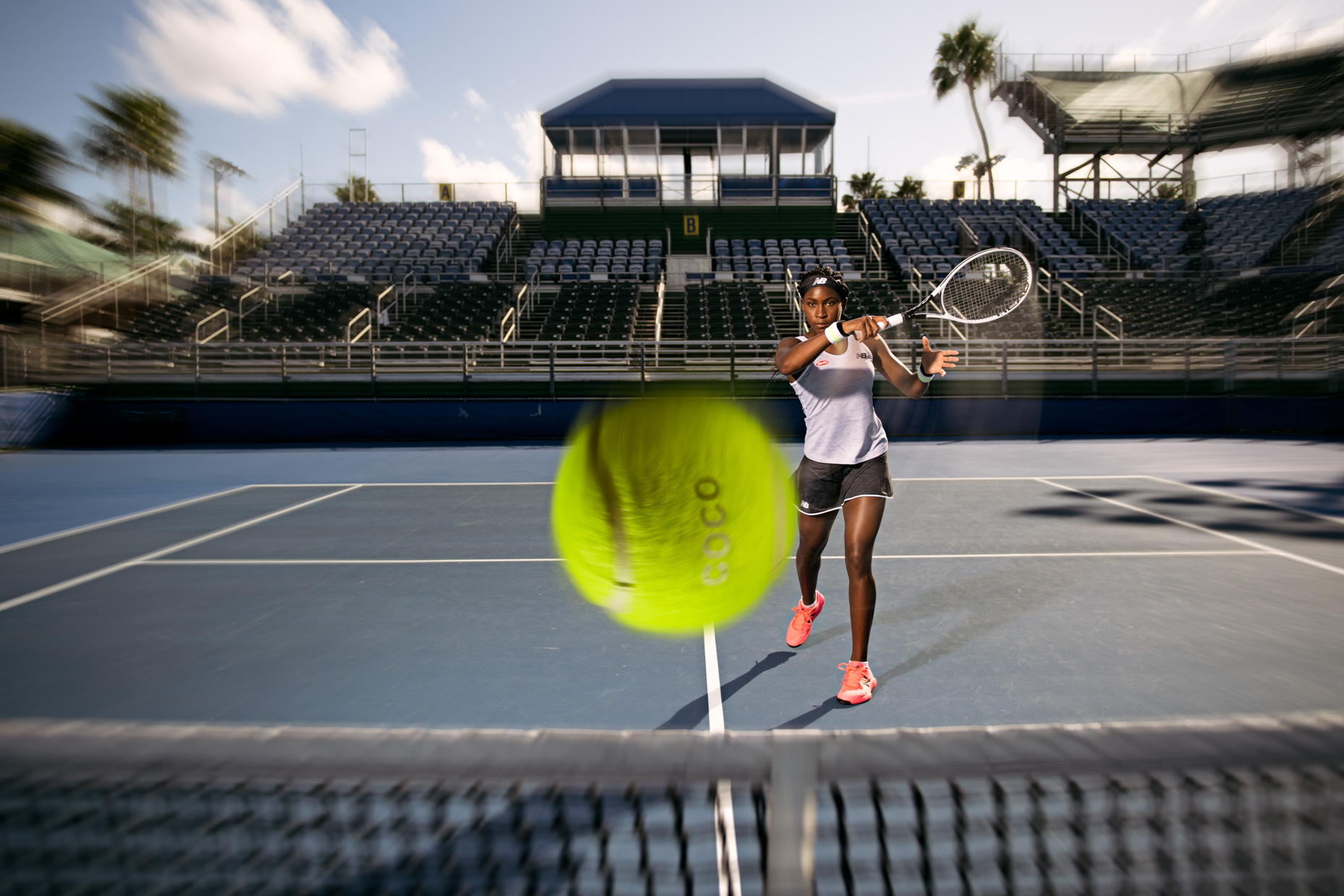 Coco Gauff - Tennis photoshoot - Delray Beach, FL - US Open - New Balance 3