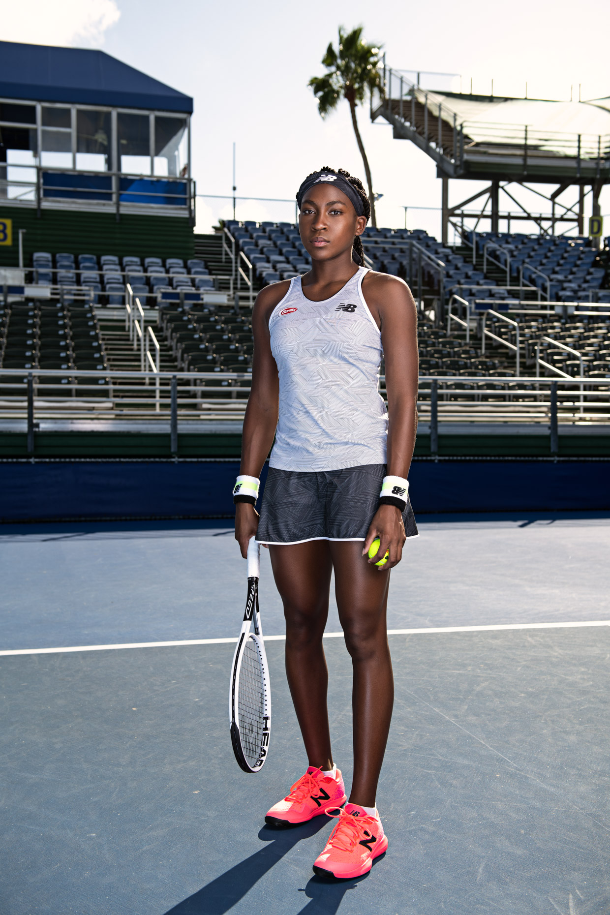Coco Gauff - Tennis photoshoot - Delray Beach, FL - US Open - New Balance 5