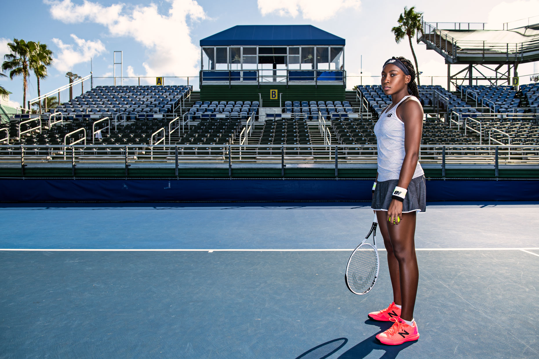 Coco Gauff - Tennis photoshoot - Delray Beach, FL - US Open - New Balance 7