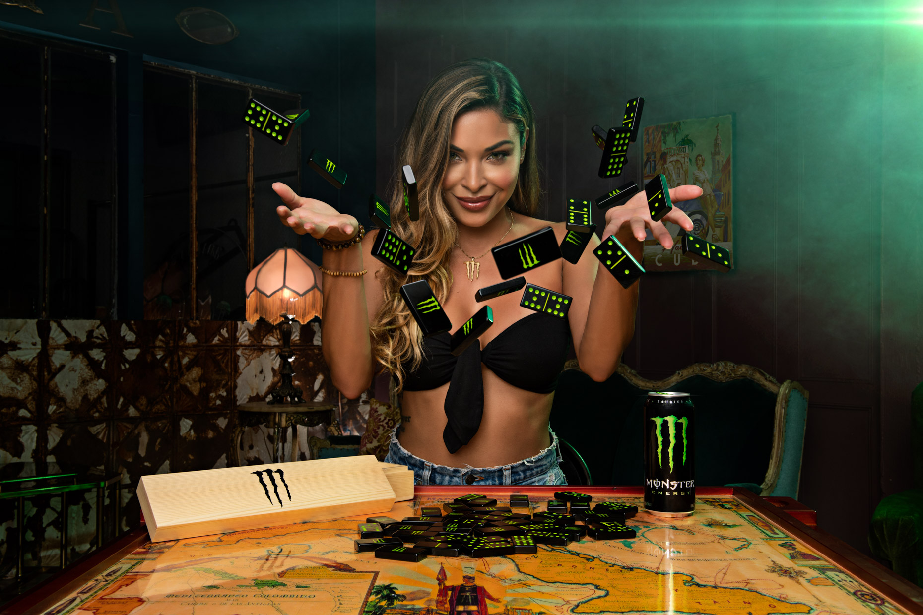 Monster Energy - Dominoes advertising campaign - Single Model Monster Girl