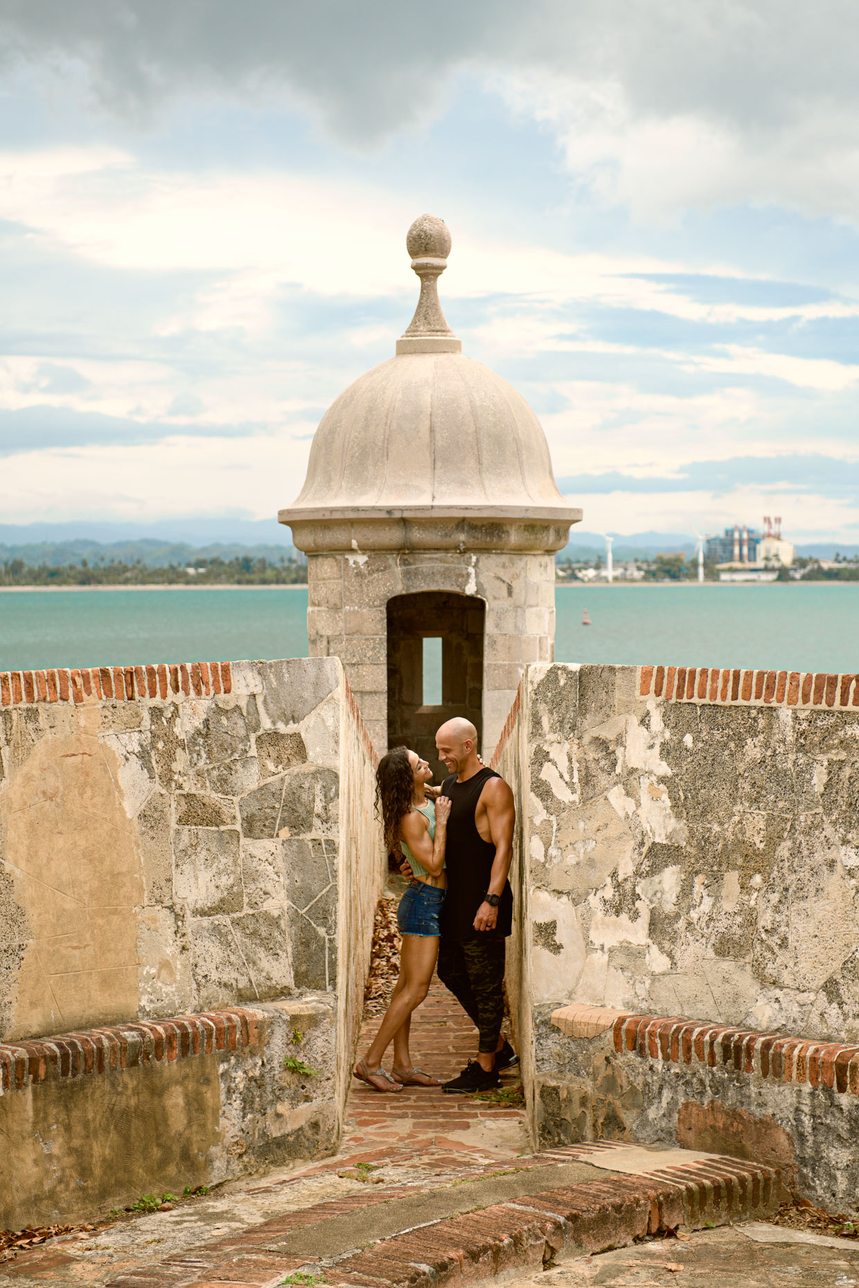 Travel lifestyle photoshoot - Natalie & George Matthews in Old San Juan, Puerto Rico