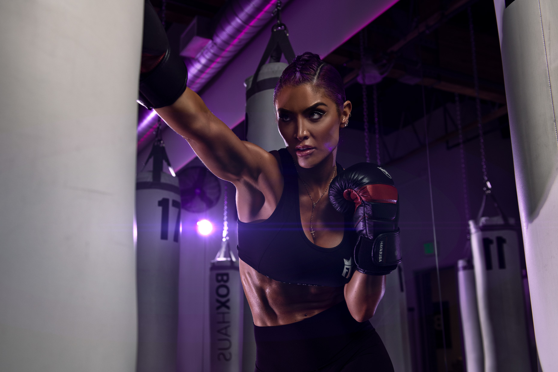 Natalie Eva Marie - WWE reality star boxing photoshoot, California