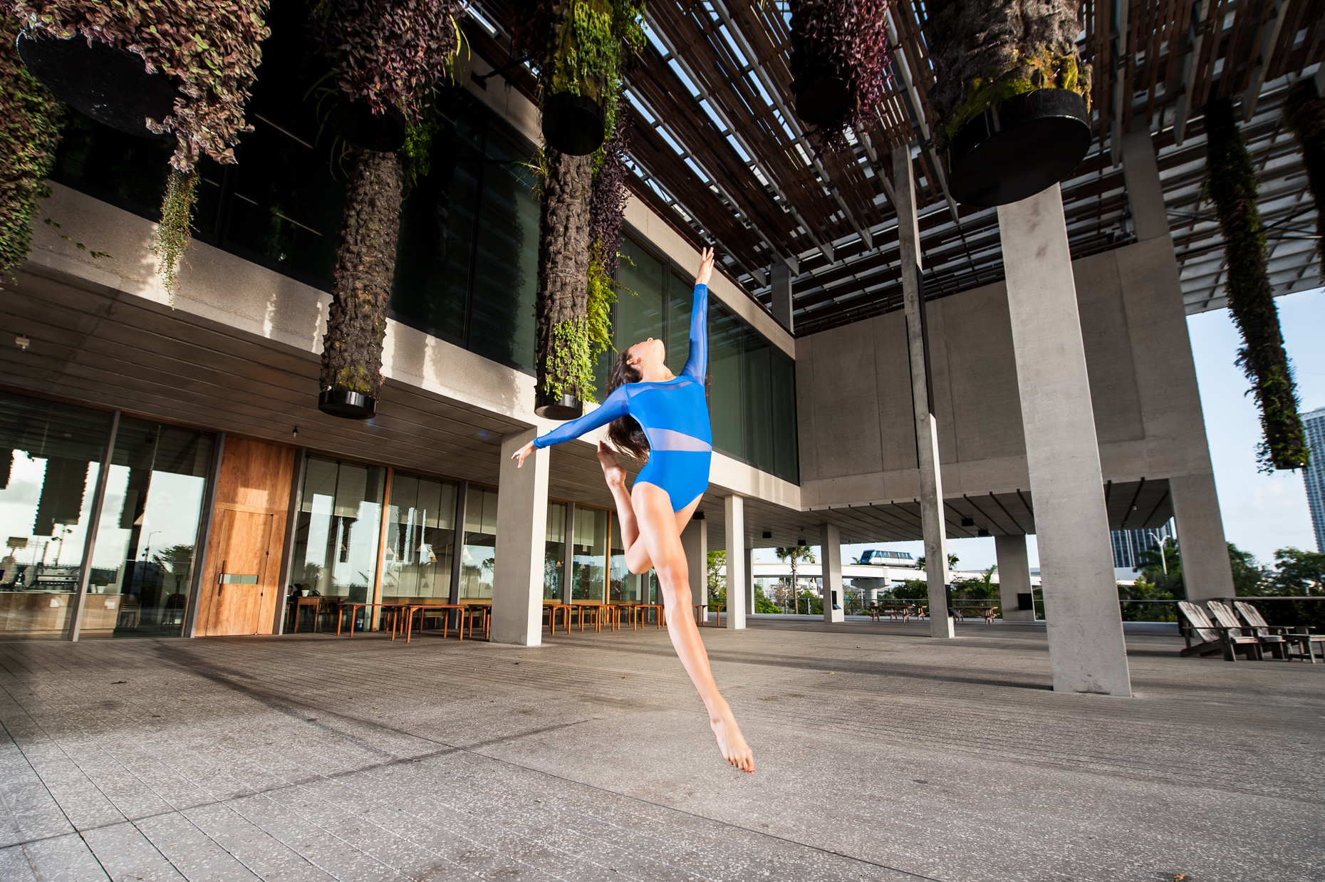 Ballet fitness photo shoot at Perez Art Museum, Miami FL