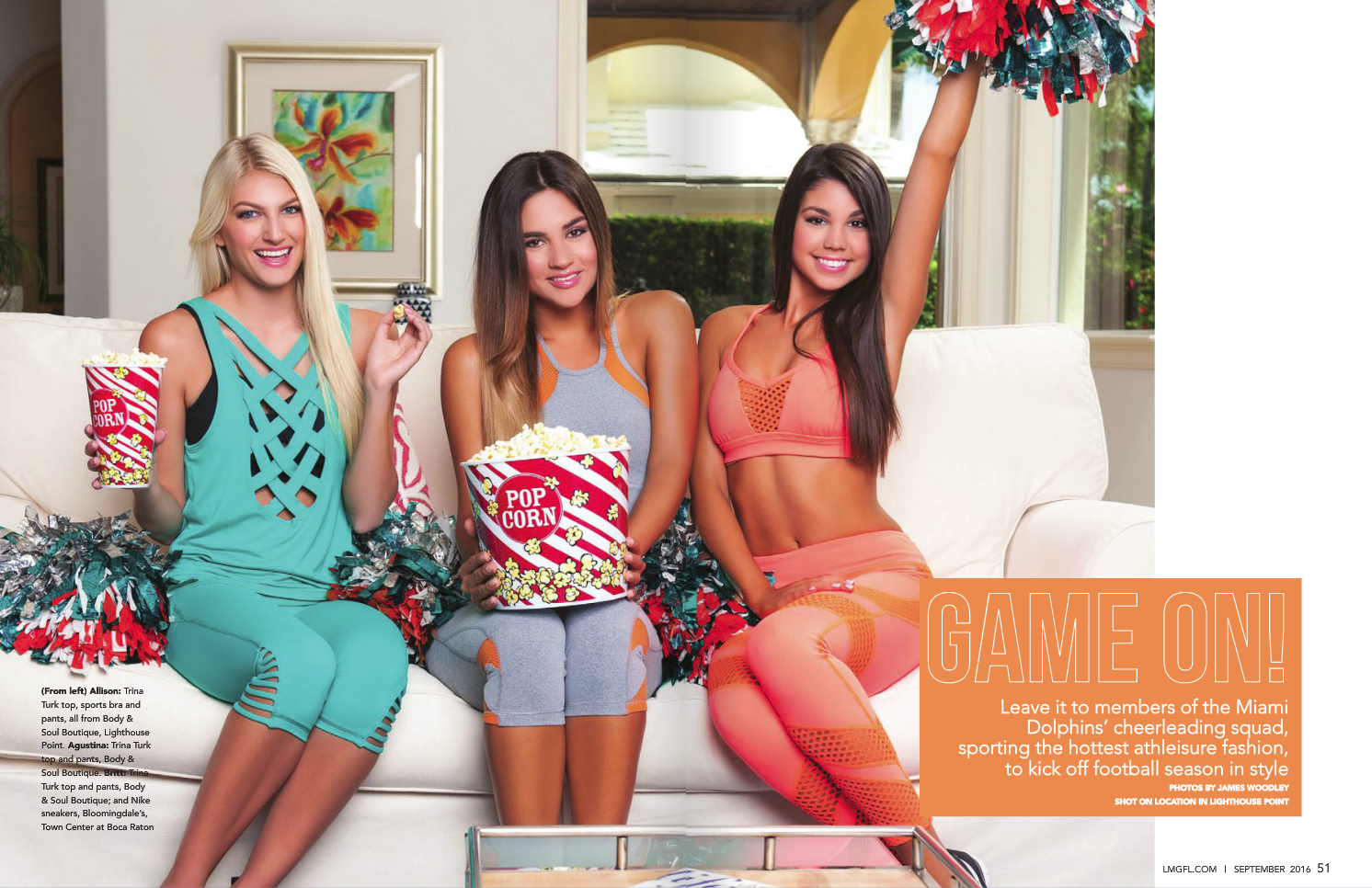 Las Olas Lifestyle Magazine - Miami Dolphins Cheerleaders - Cover shoot - Interior 1