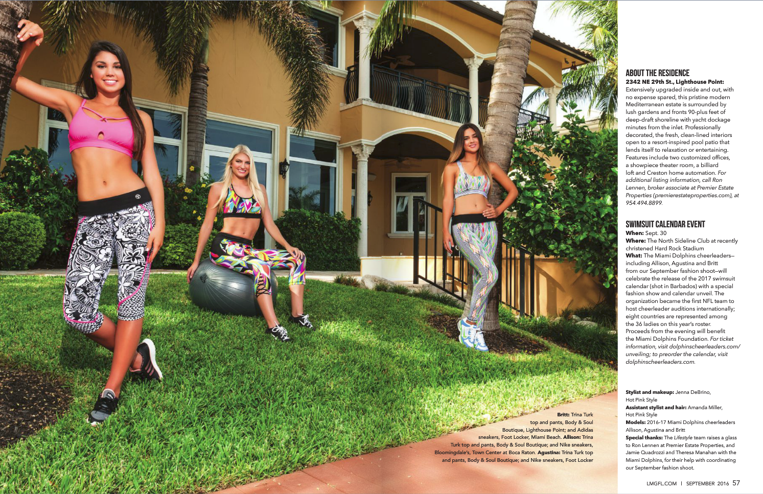 Las Olas Lifestyle Magazine - Miami Dolphins Cheerleaders - Cover shoot - Interior 4