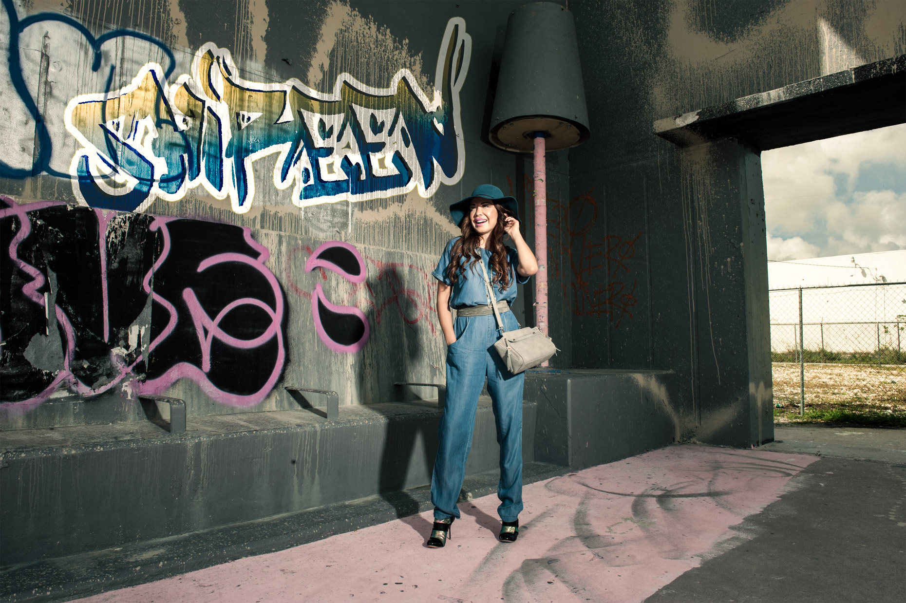 Shireen Sandoval - Denim - Graffiti Wall - Miami FL