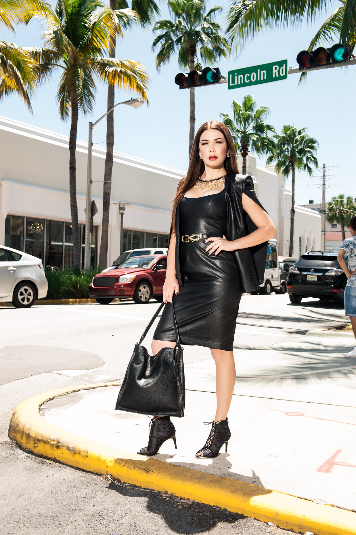 Shireen Sandoval - Leather - BCBG - Miami Beach FL