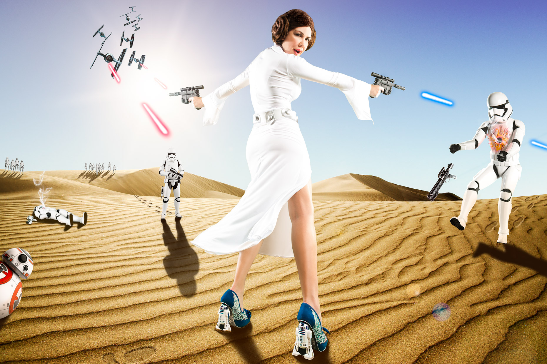 James Woodley Photography - Miami Photographer - Star Wars - Irregular Choice - Shireen Sandoval - James Woodley Photography